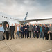 First  Forest-sourced Biofuel Commercial Flight greeted by Agriculture Secretary Tom Vilsack