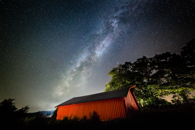 The Old Red Barn - Blue Ridge Parkway, North Carolina [Explored]