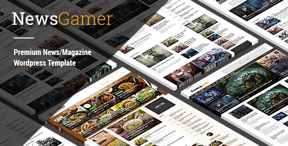 NewsGamer v2.1.5 - WordPress News / Magazine Theme