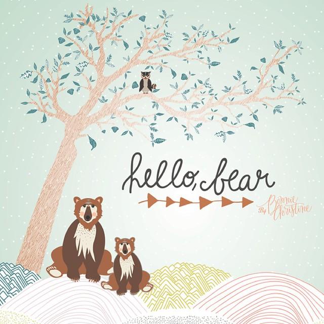 Hello Bear by Bonnie Christine-01