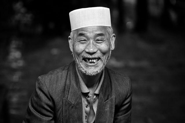 Fotos chinas. El vendedor de comida