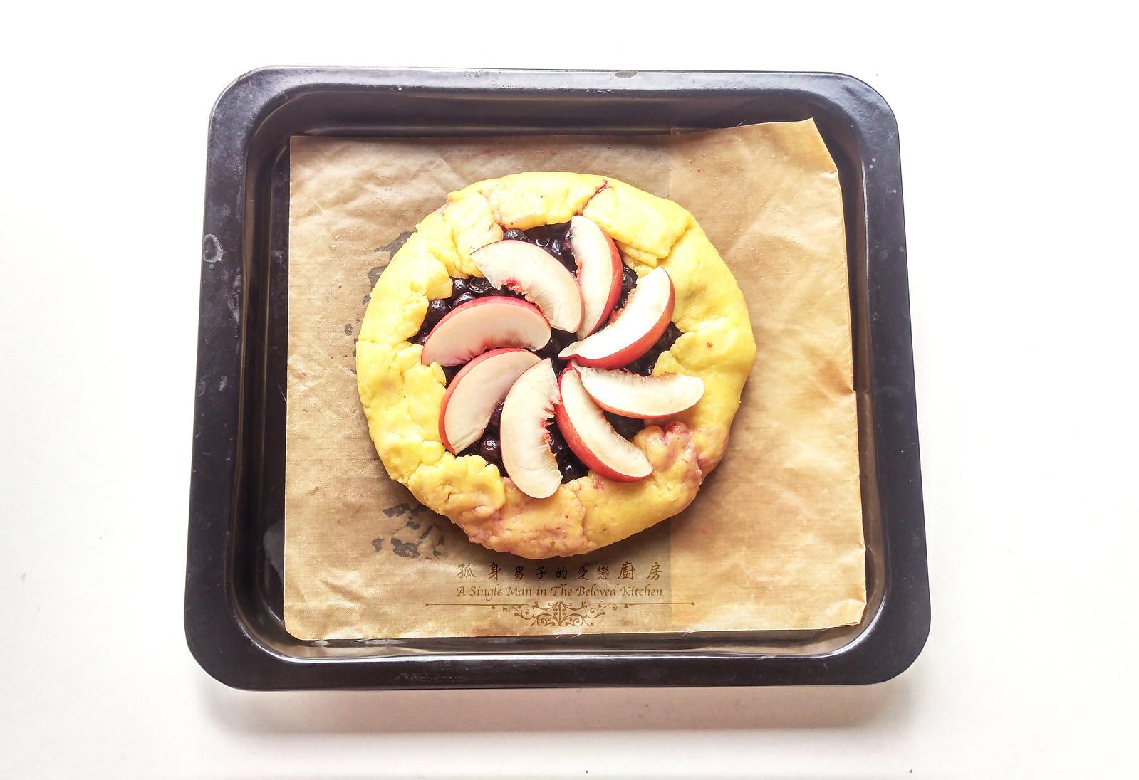 孤身廚房-藍莓甜桃法式烘餅Blueberry-Nectarin Galette20