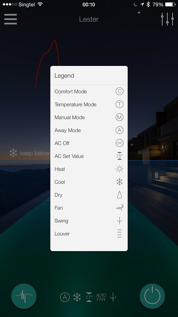Ambi Climate iOS App - Legend