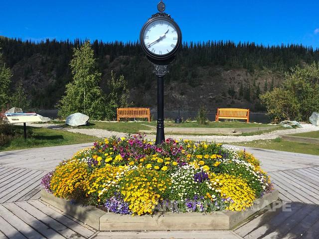 Dawson City river front