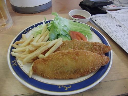 京都競馬場のフィッシュ&チップス