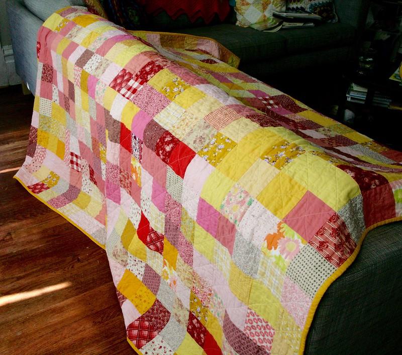 Random scrappy quilt!