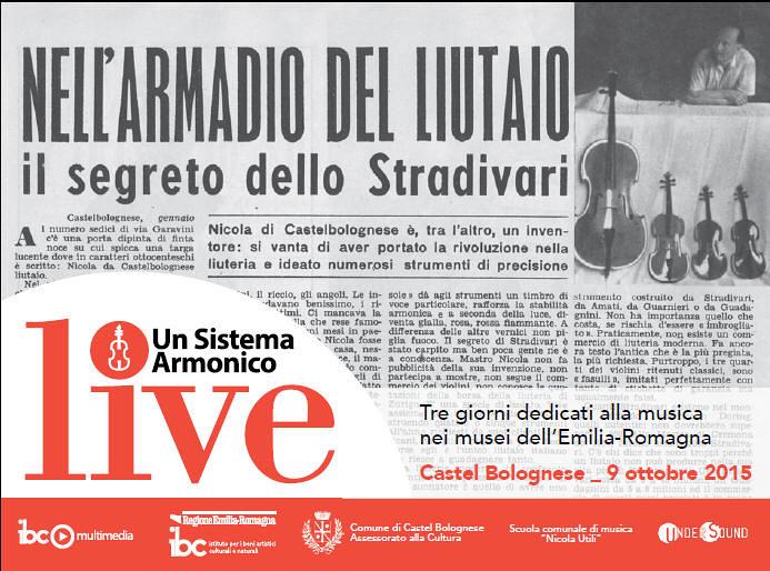 """Venerdì 9 ottobre, nell'ambito del progetto """"Un Sistema Armonico live"""" una giornata dedicata al liutaio Nicola Utili"""