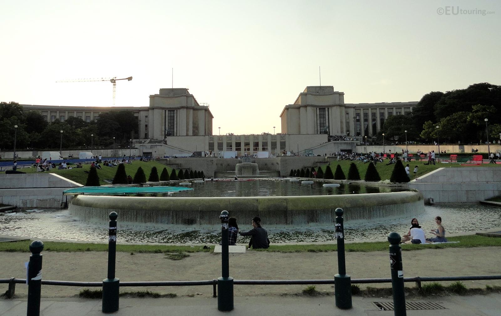 Palais de Chaillot overlooking Trocadero gardens