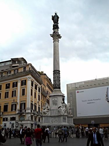 Immaculate's column (1856) at Piazza di Spagna in Rome