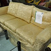 3 seater gold flower sofa
