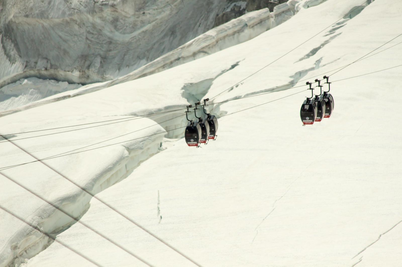 Шамони Мон-Блан - Можно продолжить путь дальше - эта канатная дорога привезет вас на границу Италии и Франции и покажет большую панораму Мон Блана со других ракурсов