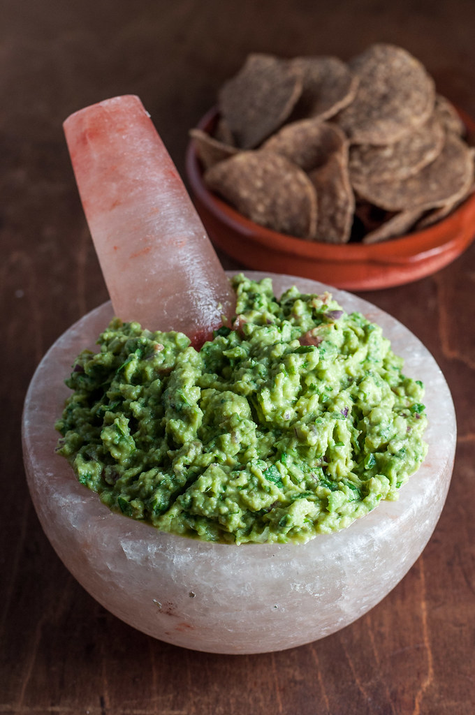 Perfectly creamy roasted garlic guac
