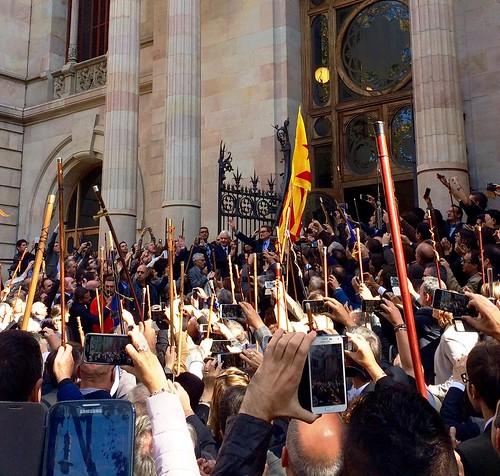 Concentració en suport del President Mas davant el Tribunal Superior de Justícia de Catalunya