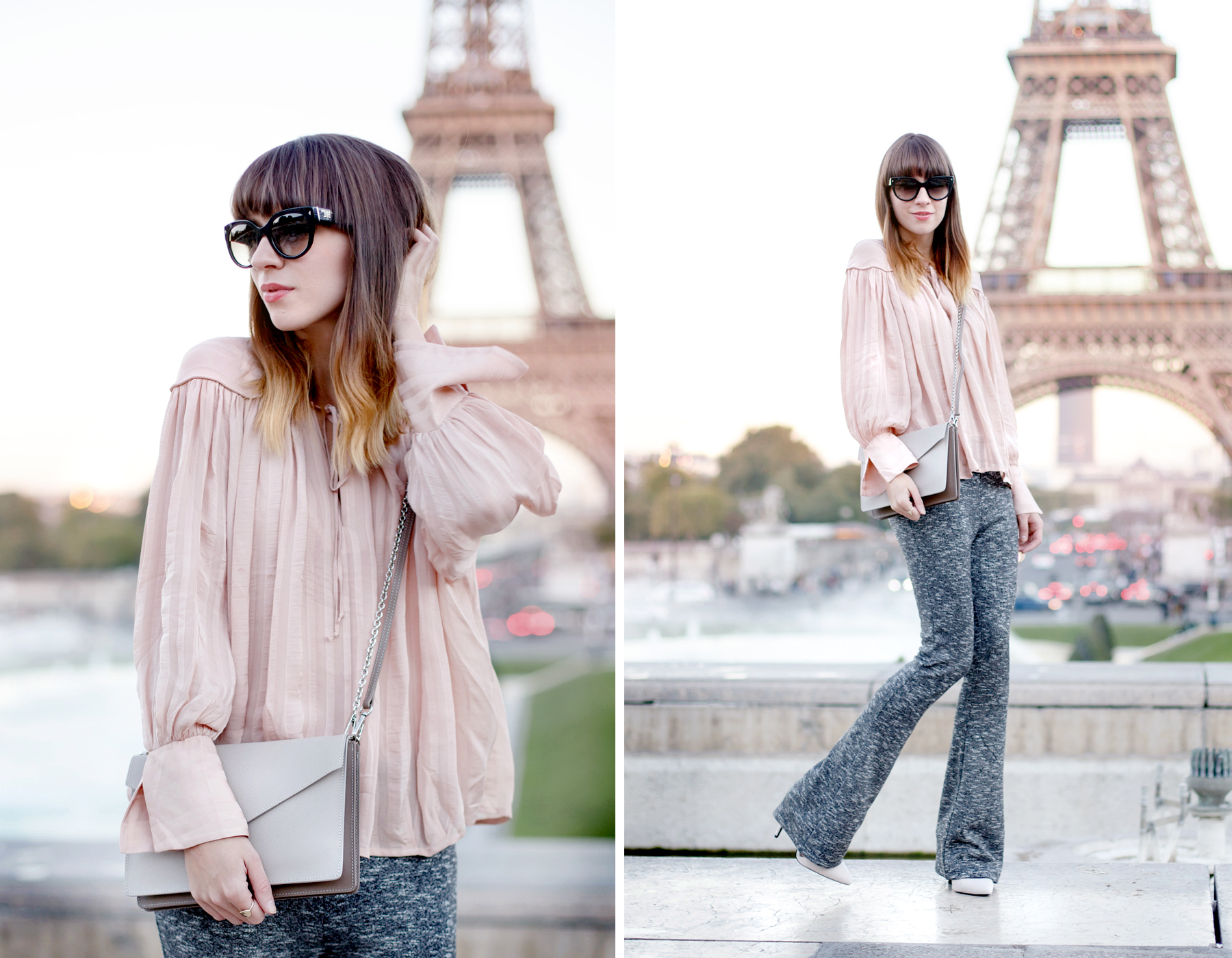 tour eiffel paris pfw fashionweek lancaster paris element bag peach bright outfit ootd look lookbook travel travelblogger inspiration autumn france french fashion blogger cats & dogs fashionblog ricarda schernus 5