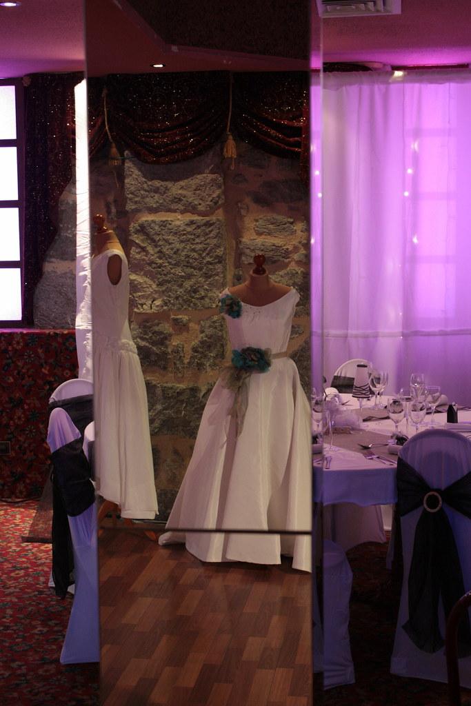 Robes de mariée en exposition