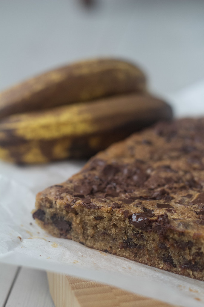 Banan kage med chokoladestykker (15)
