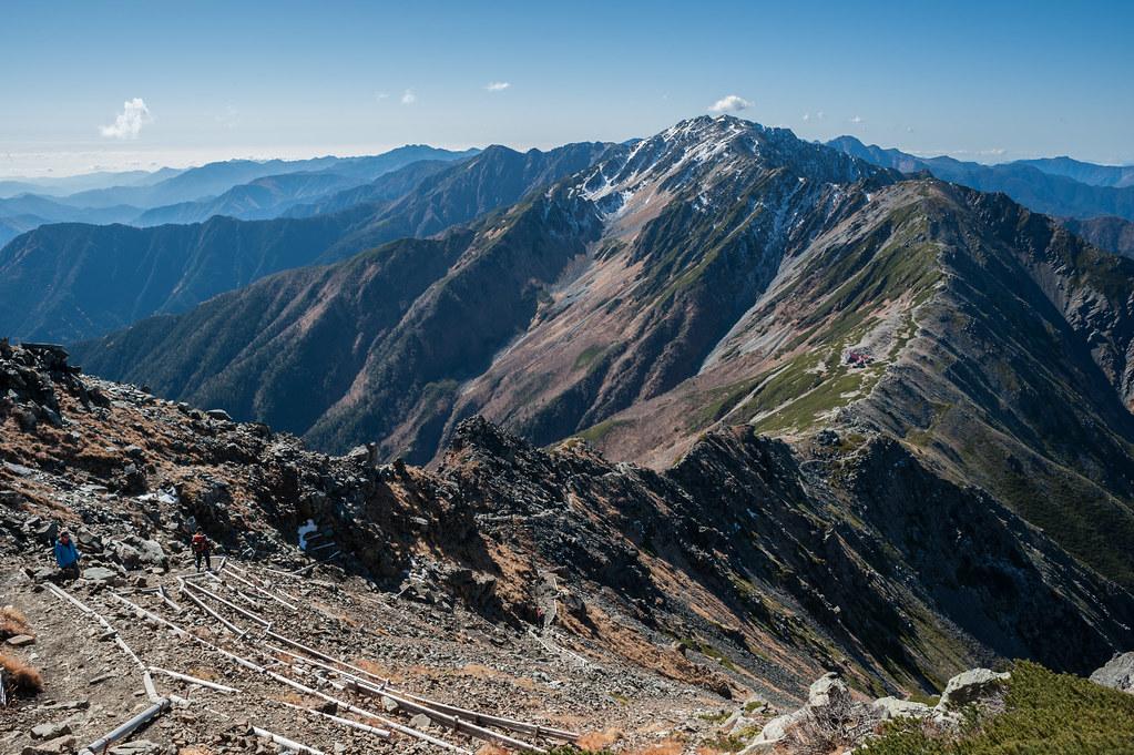Ridge to 間ノ岳 | Mt. AInodake