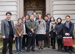 A South Korean audit delegation researching best practice was greeted by Surrey Chairman Sally Marks at County Hall this morning.