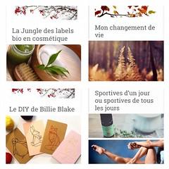 Hello mes bioeauty 🌿🍃 Pour celles qui n'ont pas le temps la semaine , voici les articles de la semaine 🌱🌾 💮 La jungle des labels bio . 💮 Le diy de Billie Blake. 💮Mon changement de vie