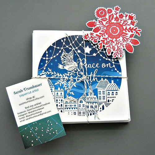 Papercut Holidays Cards by Sarah Trumbauer