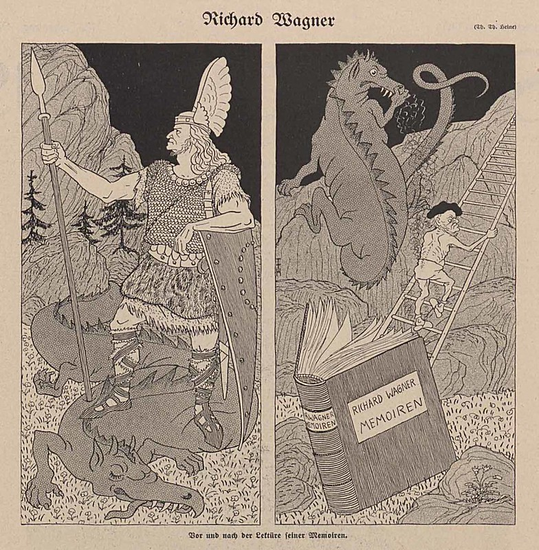 Thomas Theodor Heine - Richard Wagner, 1911