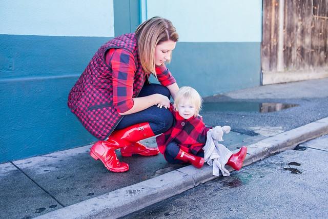how-to-wear-hunter-boots   on trend tuesday linkup