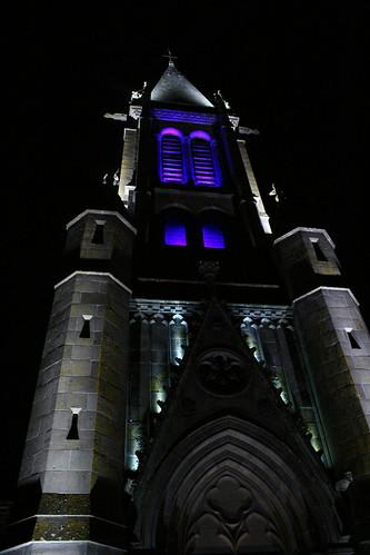 L'église de St Just, indigo