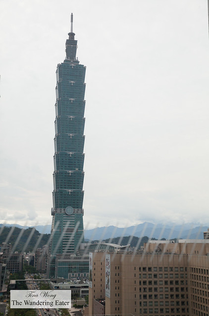 View of Taipei 101 at tje spa area