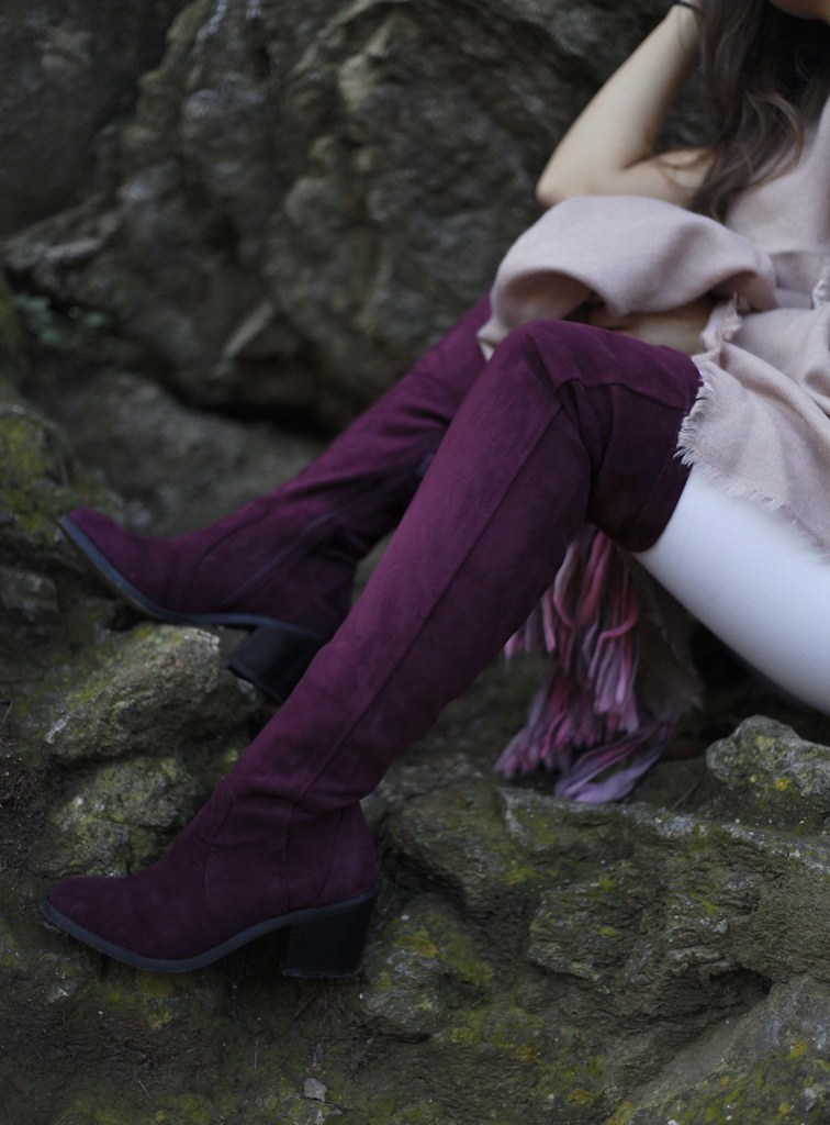 010_Burgundy_and_pink_outfit_autumn_fashion_blogger_theguestgirl_barcelona