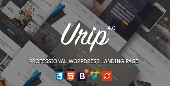 Urip v7.4.9 – Professional WordPress Landing Page