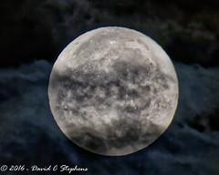 Super Moon Behind Clouds