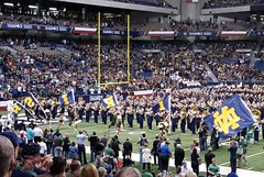 #NotreDame Fighting Irish matching band taking the field before the ND vs Army game