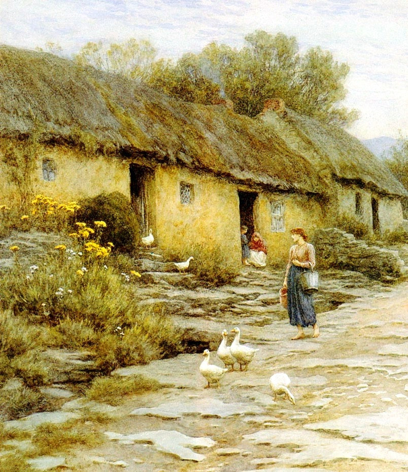 Irish Cottage by Helen Allingham