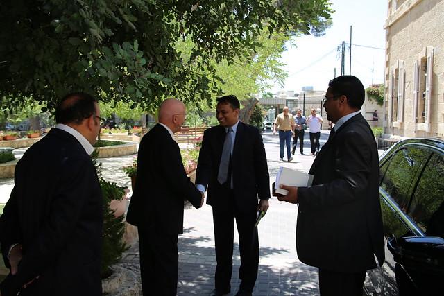 Visit of Indian Representative to Palestine