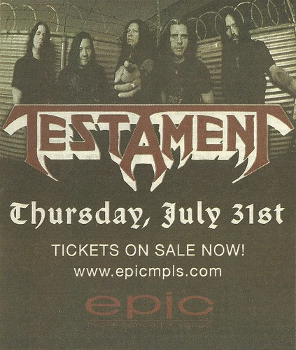 07/31/08 Testament @ Epic, Minneapolis, MN