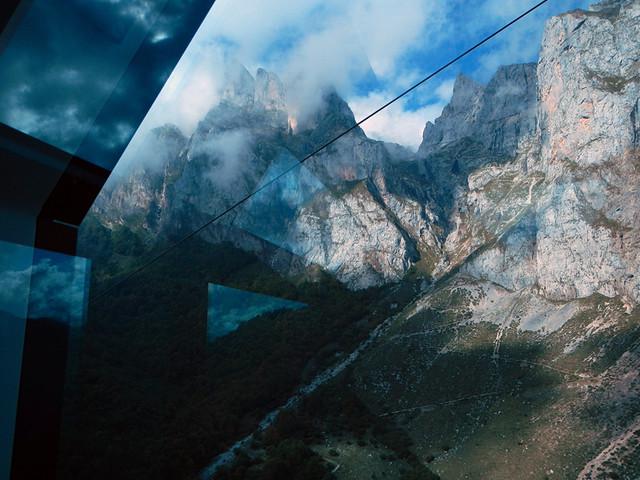 Inside the Cable Car (Teleferico) Going Up the Picos de Europa