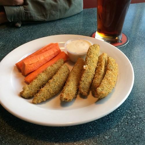 Deep fried pickles #yegfood