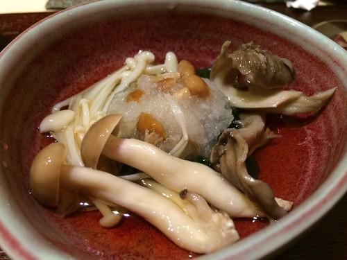 箸休め 茸の酢の物@西麻布 けんしろう