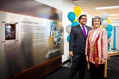Mayor Naheed Nenshi and Judith Umbach