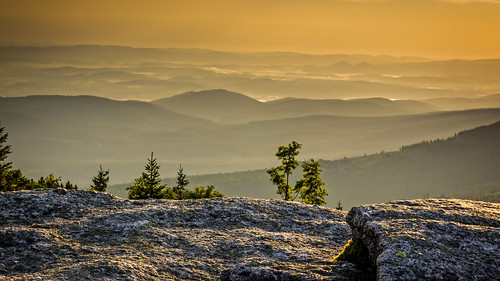 mountains sunrise poland karkonosze szrenica
