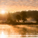 """Misty River Sunrise at Boy Lake"" by Patti Deters"