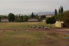 Cool day today, notice the school had their students out doing some frisby throwing, so I took some phots of it.