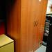 Tall cherry 2 door storage unit