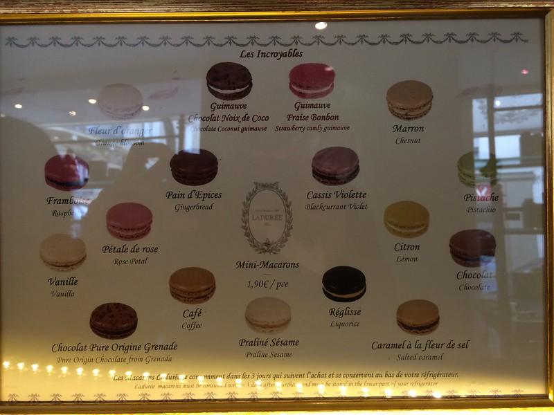 Macaron selections.