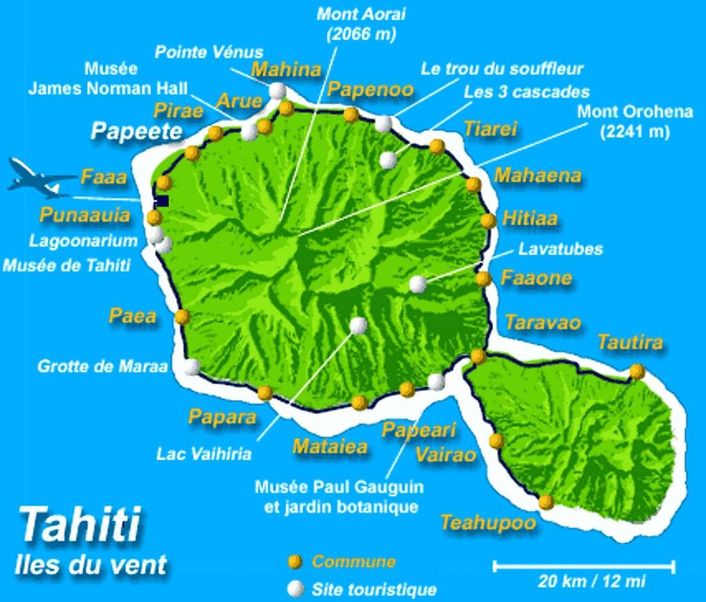 IMG001/French Polynésia/Tahiti Island/Map   Tahiti , French …   Flickr
