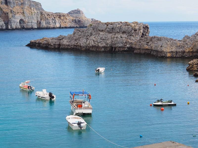 Lindos, lindosbay, krystelcouture, greece, boats,