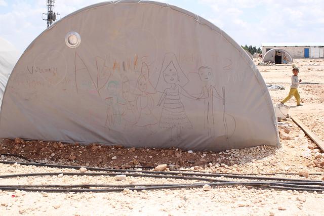 難民營一角