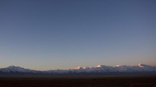 travel viaje moon snow sunrise landscape asia nieve paisaje snowcapped amanecer silkroad paysage centralasia kyrgyzstan range cordillera montañas pamir asiacentral rutadelaseda kirguistan