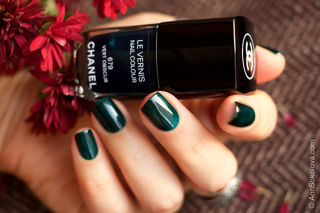 06 Chanel #679 Vert Obscur swatches by Ann Sokolova
