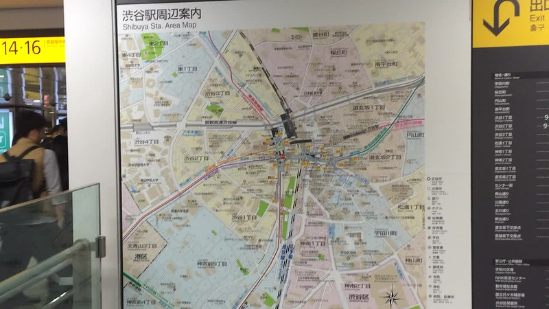 Shibuya station maps.